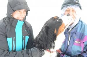 Shanti avec personne hiver